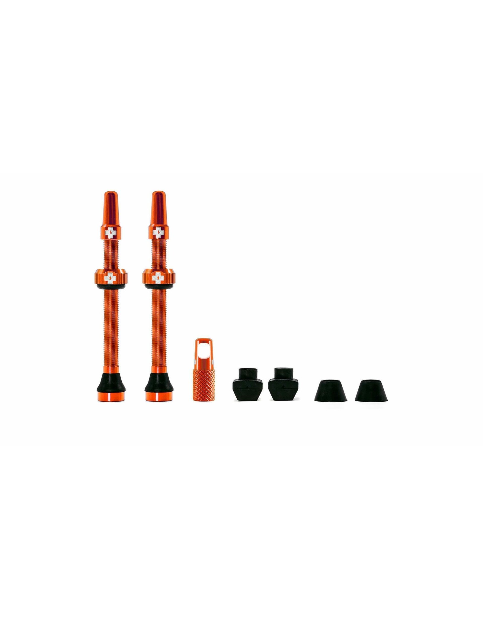 Muc-Off Muc-Off Presta Valve Stem, 60mm Universal, Pair - Orange