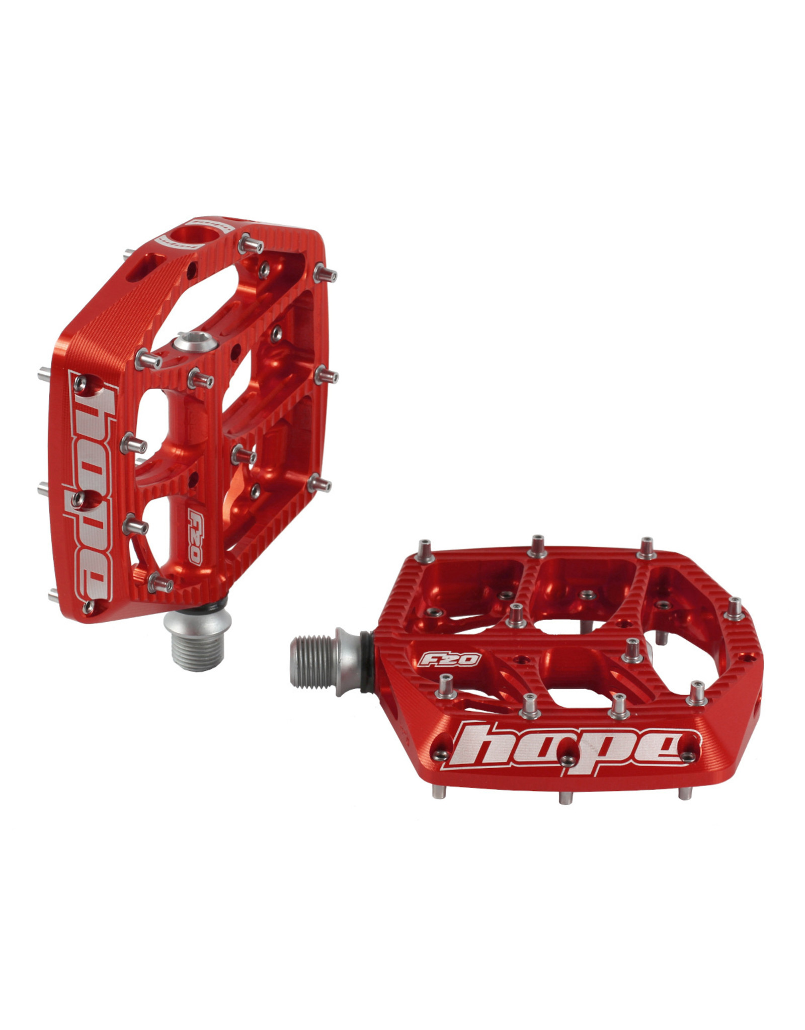 Hope Tech F20 Pedals - Pair Red