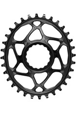 absoluteBLACK Oval Narrow-Wide Direct Mount Chainring - 34t, CINCH Direct Mount, 3mm Offset, Black
