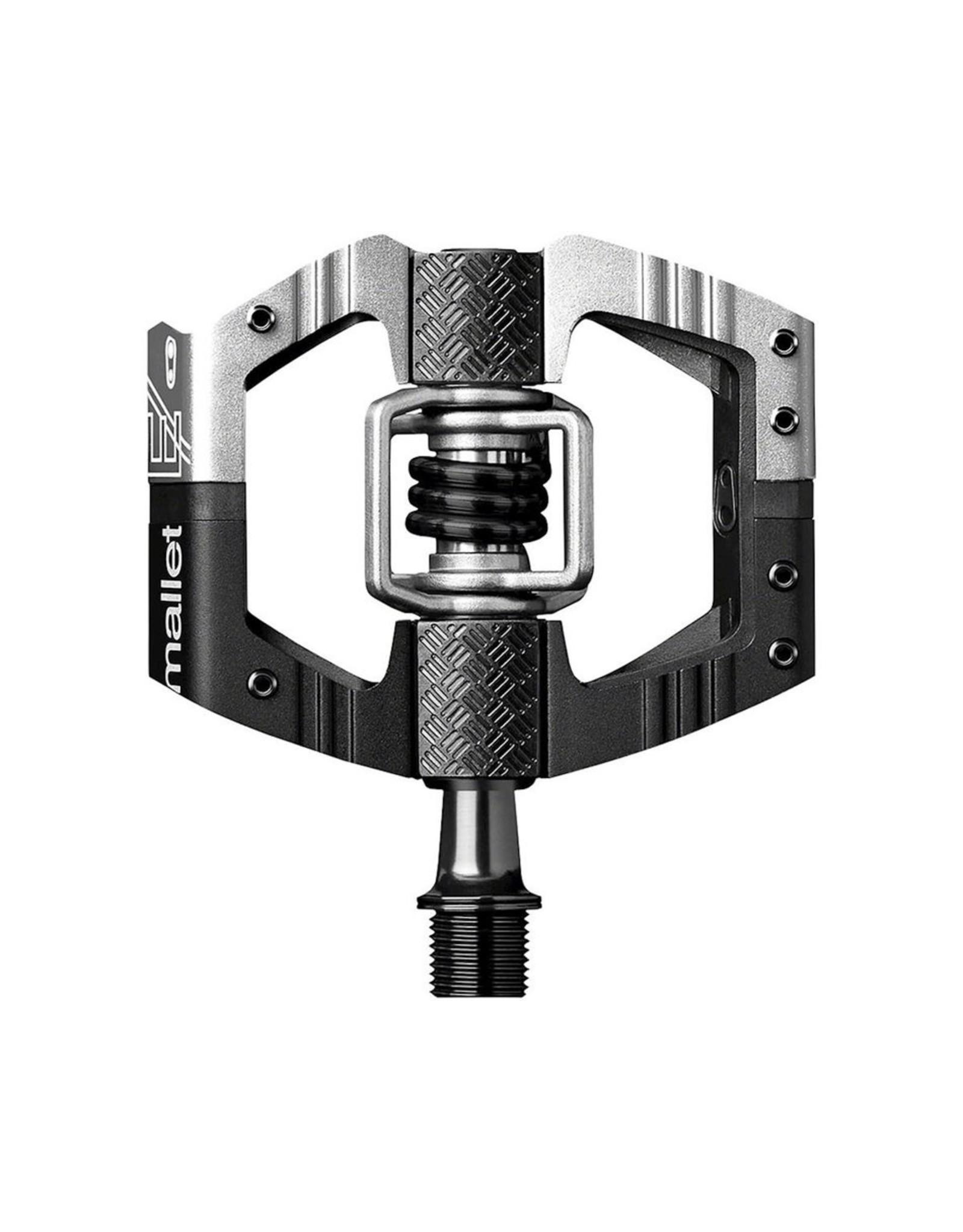 Crank Brothers Mallet E LS Pedals, Silver/Black