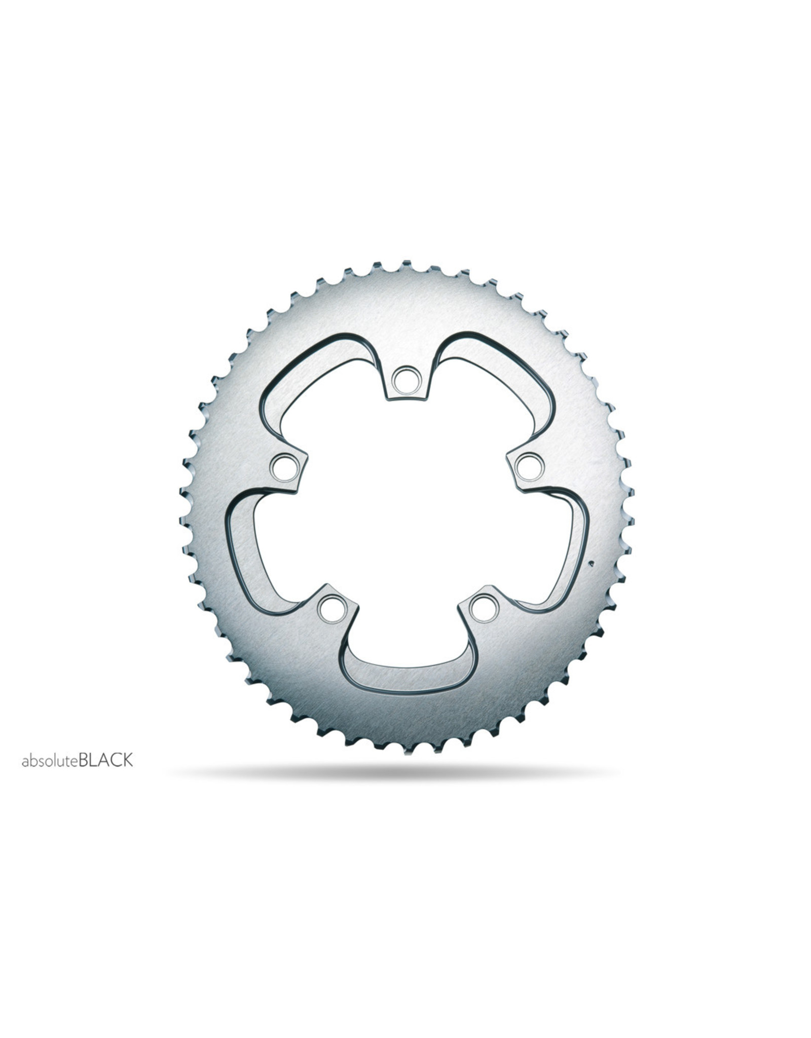 Absolute Black Absolute Black Winter Oval Road Chainring, 5x110BCD 50T - Grey