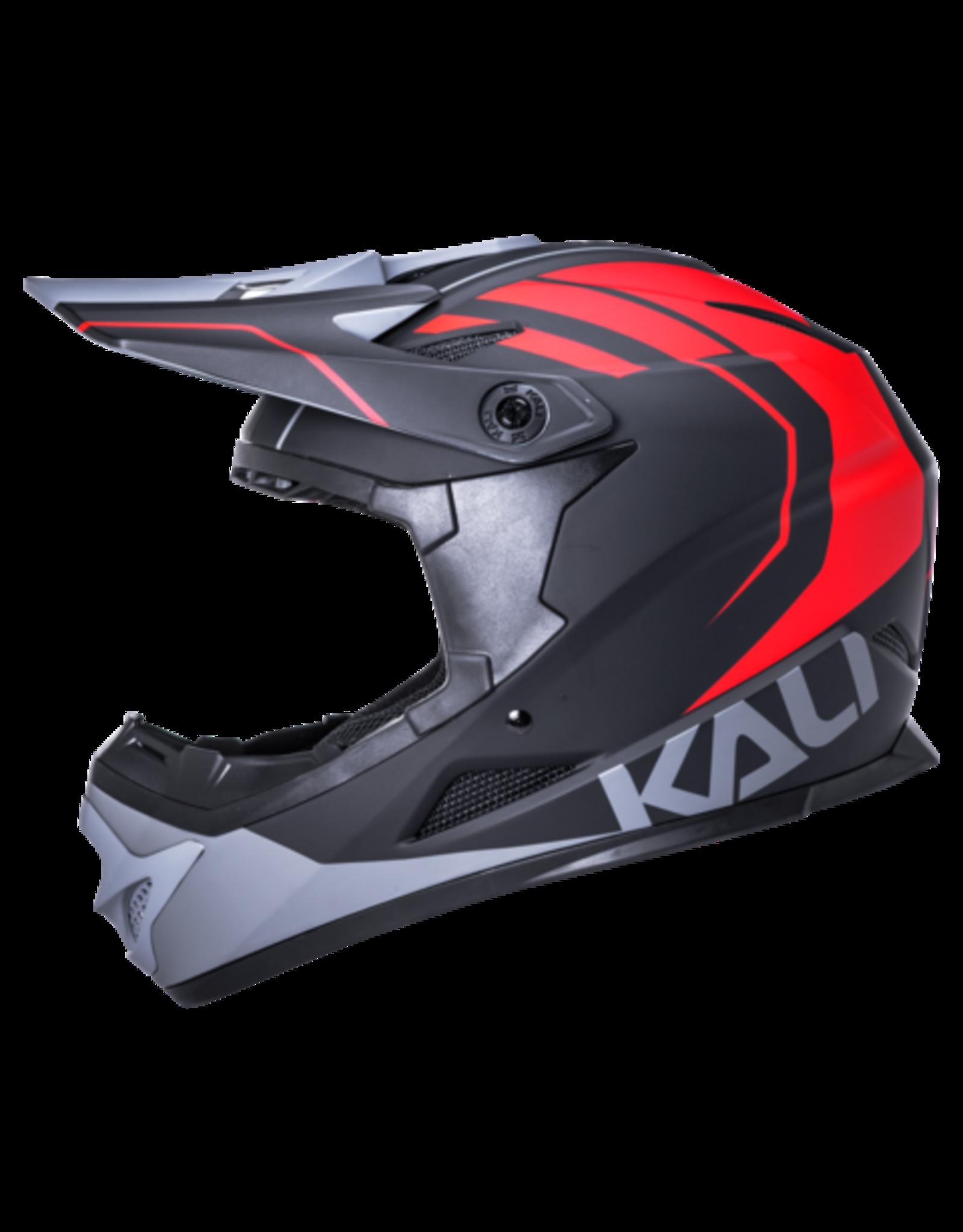 Kali Protectives Kali Protectives Zoka Full-Face Helmet - Black/Red/Gray, Small