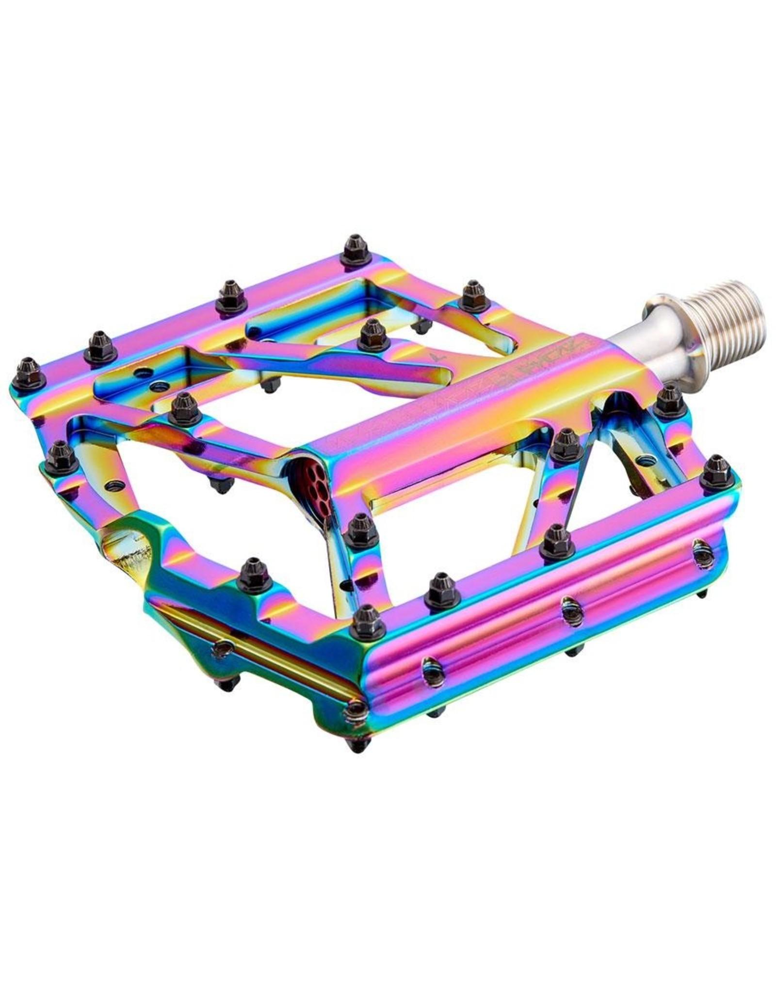 Supacaz Supacaz Orbitron DH Flat Pedals: CNC Alloy, Oil Slick