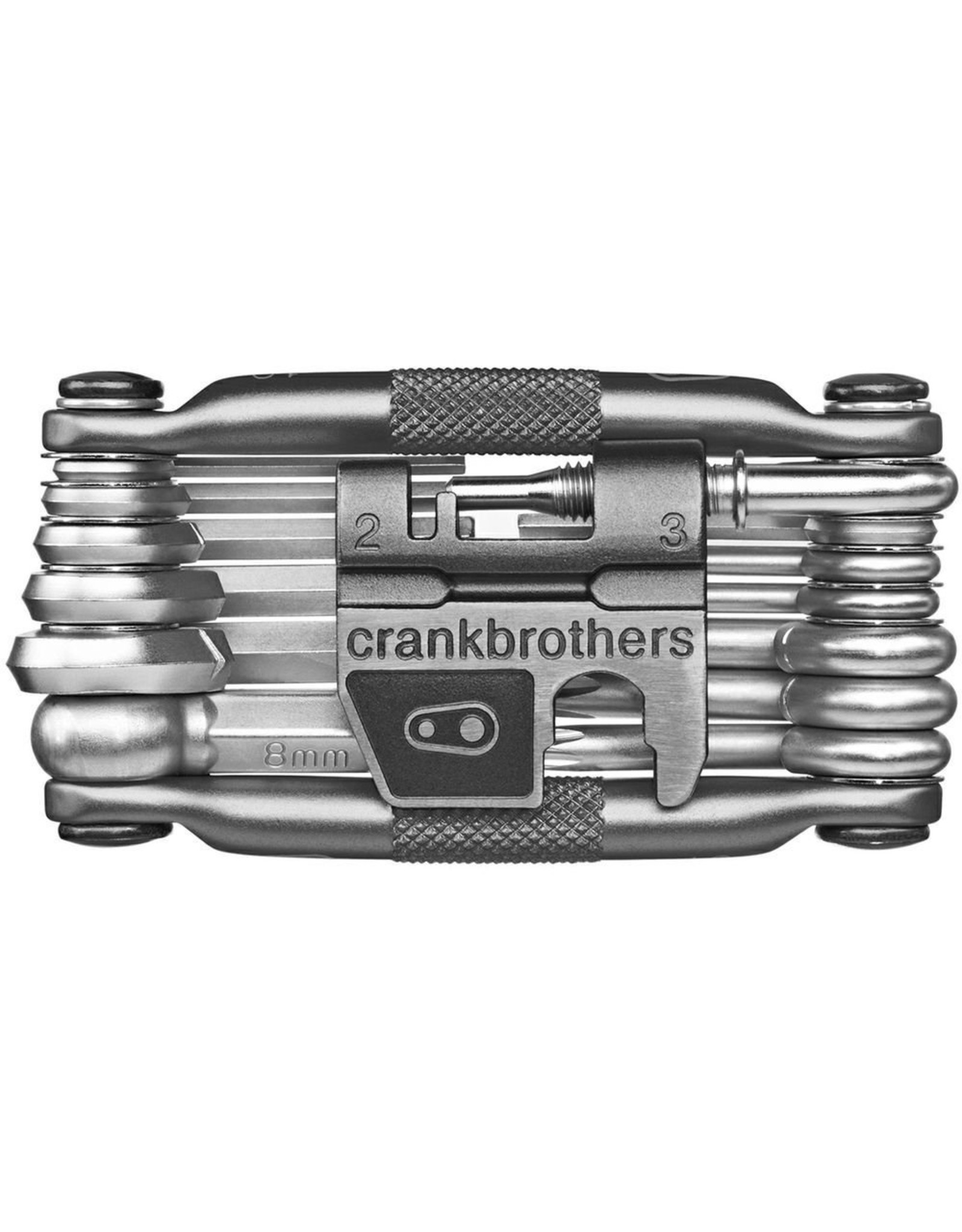 Crank Brothers Crank Brothers Multi-19 Mini Tool with Flask, Nickel