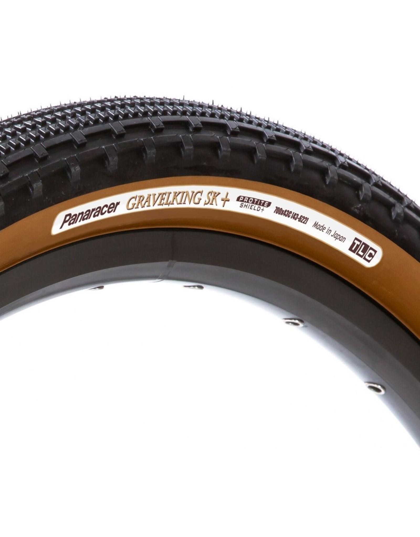 Panaracer Panaracer GravelKing SK Plus Tire - 700 x 38, Tubeless, Folding, Black/Brown, ProTite Protection