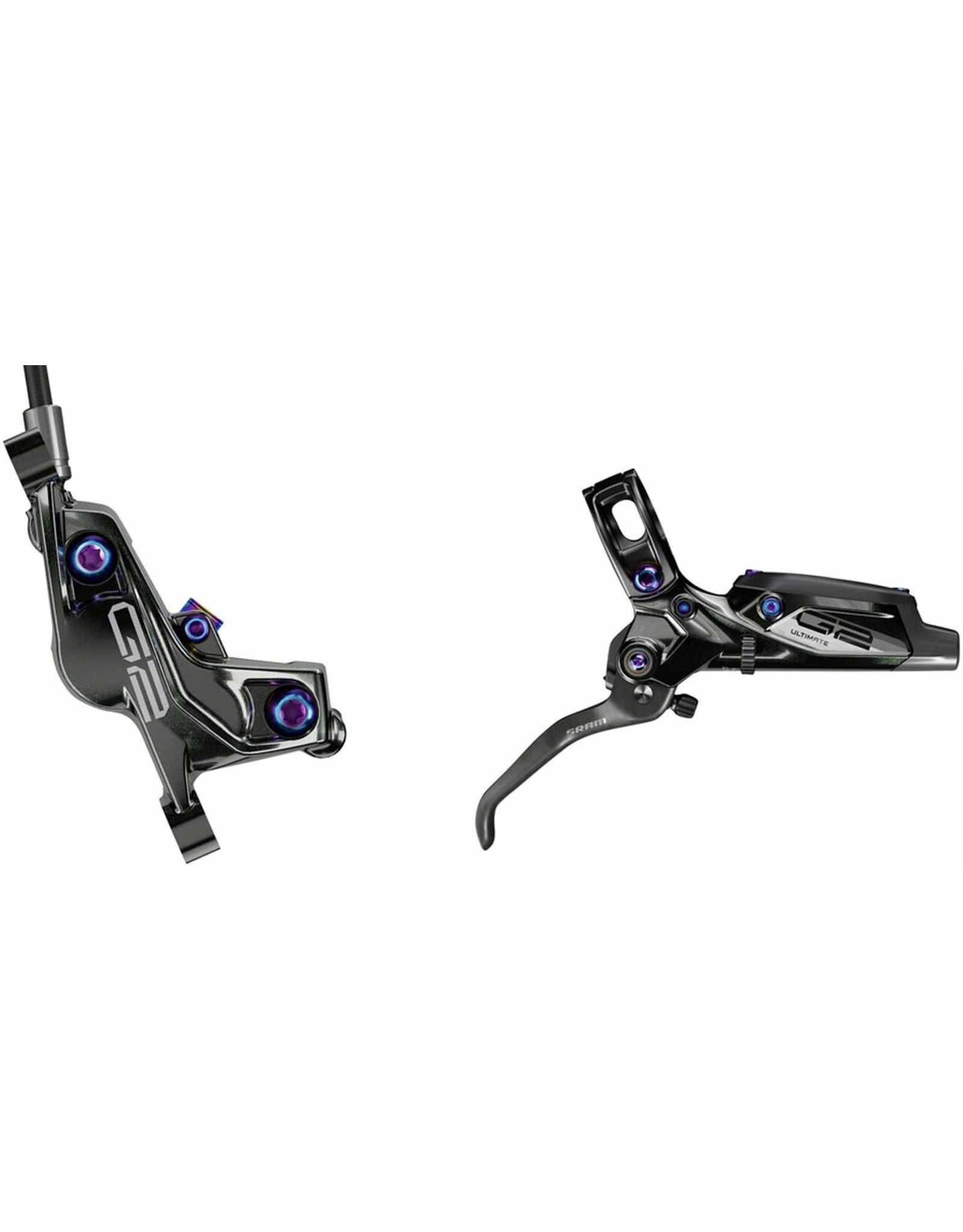 SRAM SRAM Code RSC Disc Brake and Lever - Front, Hydraulic, Post Mount, Black with Rainbow Hardware, A1
