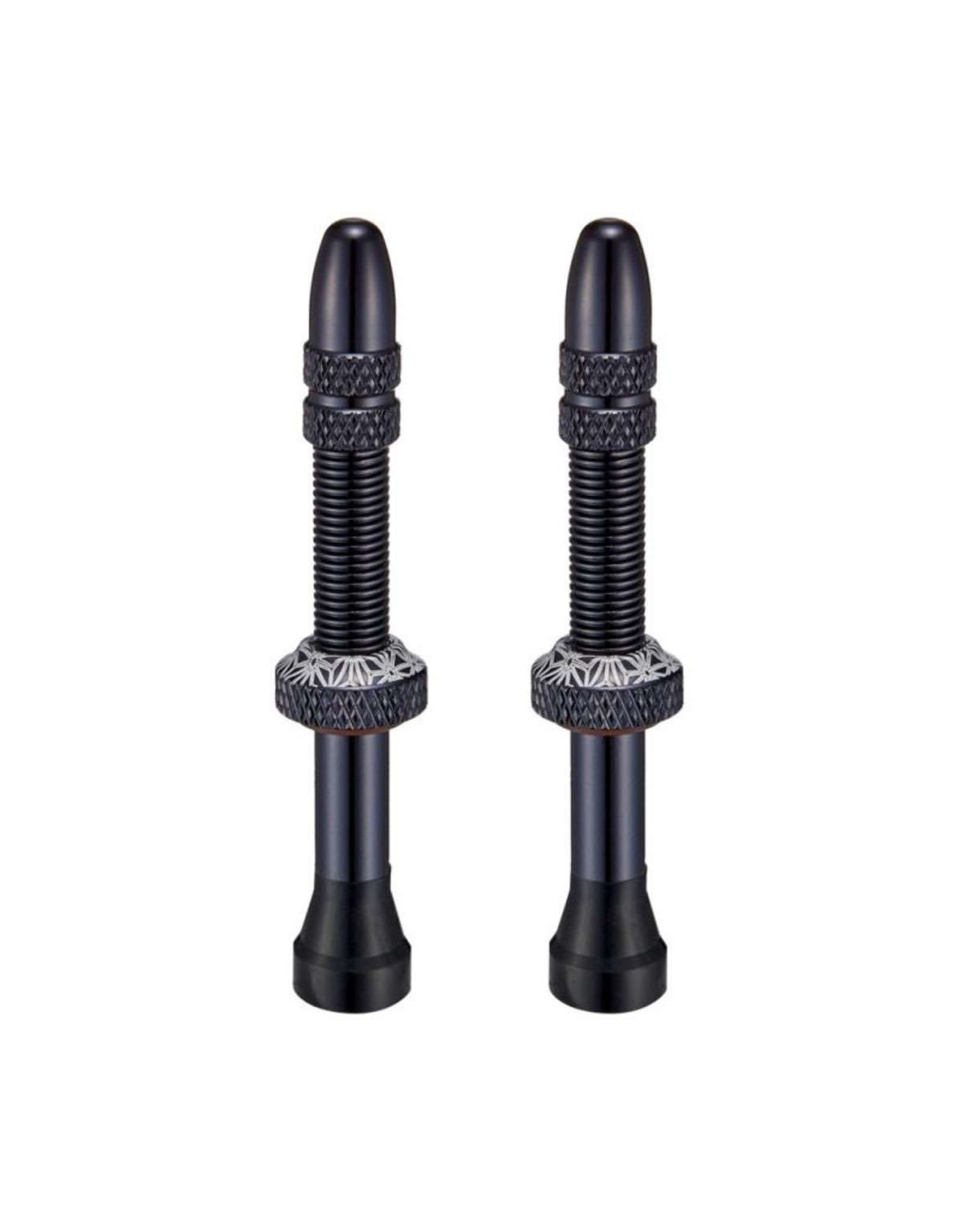 Supacaz Star Valvez Tubeless Presta Valve, 50mm, Black, Pr