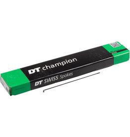 DT Swiss DT Swiss Champion Spoke: 2.0mm, 193mm, J-bend, Black, Box of 100