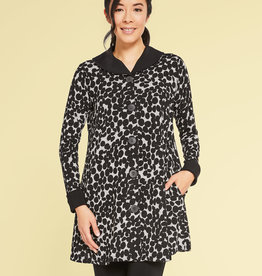Sympli In Stock On The Dot Swing Coat *Full Sleeve*