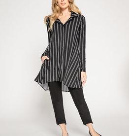 Sympli In Stock Go To Shirt Stripe *Full Sleeve*
