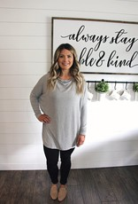Bryn Walker Dimitri Tunic Grey French Terry