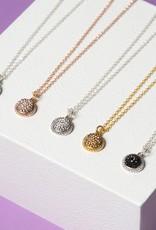 Hillberg & Berk Sparkle Ball Halo Necklace Pendant
