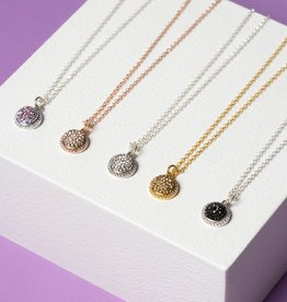 Hillberg & Berk Sparkle Ball Halo Necklace Pendant