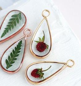 Bronze & Butterflies Baby Fern Drop Necklace