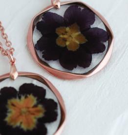 Bronze & Butterflies Full Flower Necklace