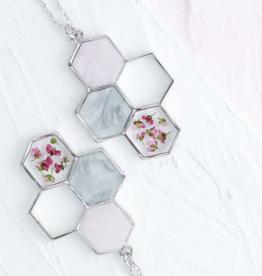 Bronze & Butterflies Honeycomb Necklace