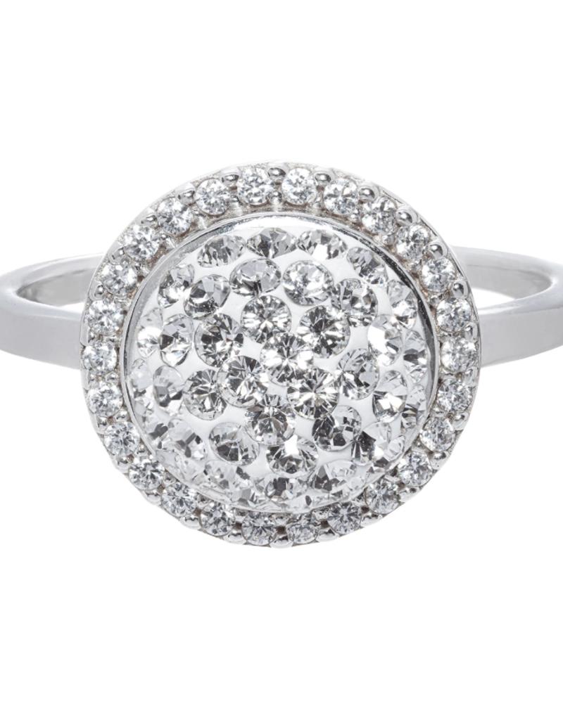 Hillberg & Berk Sparkle Ball Halo Ring