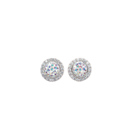 Hillberg & Berk Sparkle Ball Halo Earrings