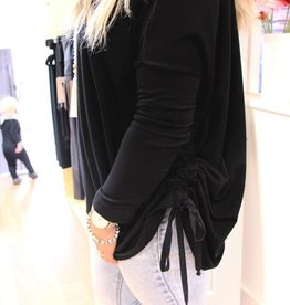 Bryn Walker *SALE* French Terry Ruched Inman Black