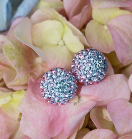 Hillberg & Berk Hydrangea Sparkle Stud Earrings