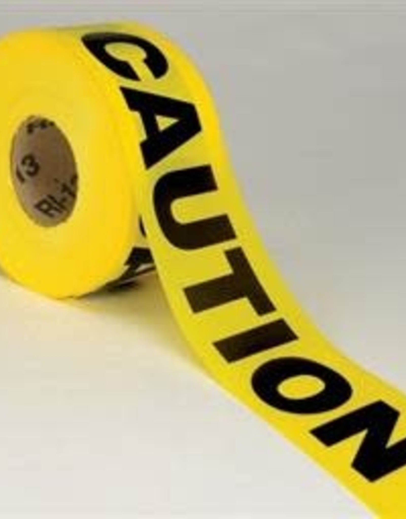 """Caution Tape, Yellow,  2 Mil, 3"""" Wide x 1000 Ft."""