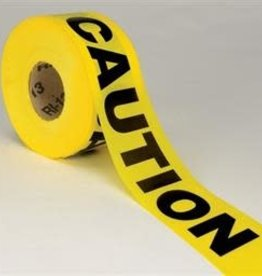 "Caution Tape, Yellow,  2 Mil, 3"" Wide x 1000 Ft."