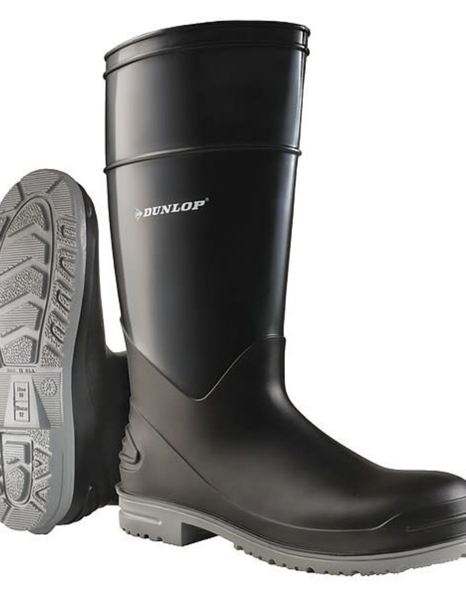 Dunlop Boots, Black Knee High, Steel Toe, SZ. 13