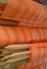 Woven Barrier Fence, Orange,  w/ (11)  pre-attached 5' 1.25 Nom Stakes