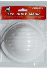 White Dog Dust Mask Blister Pack, 5 Piece
