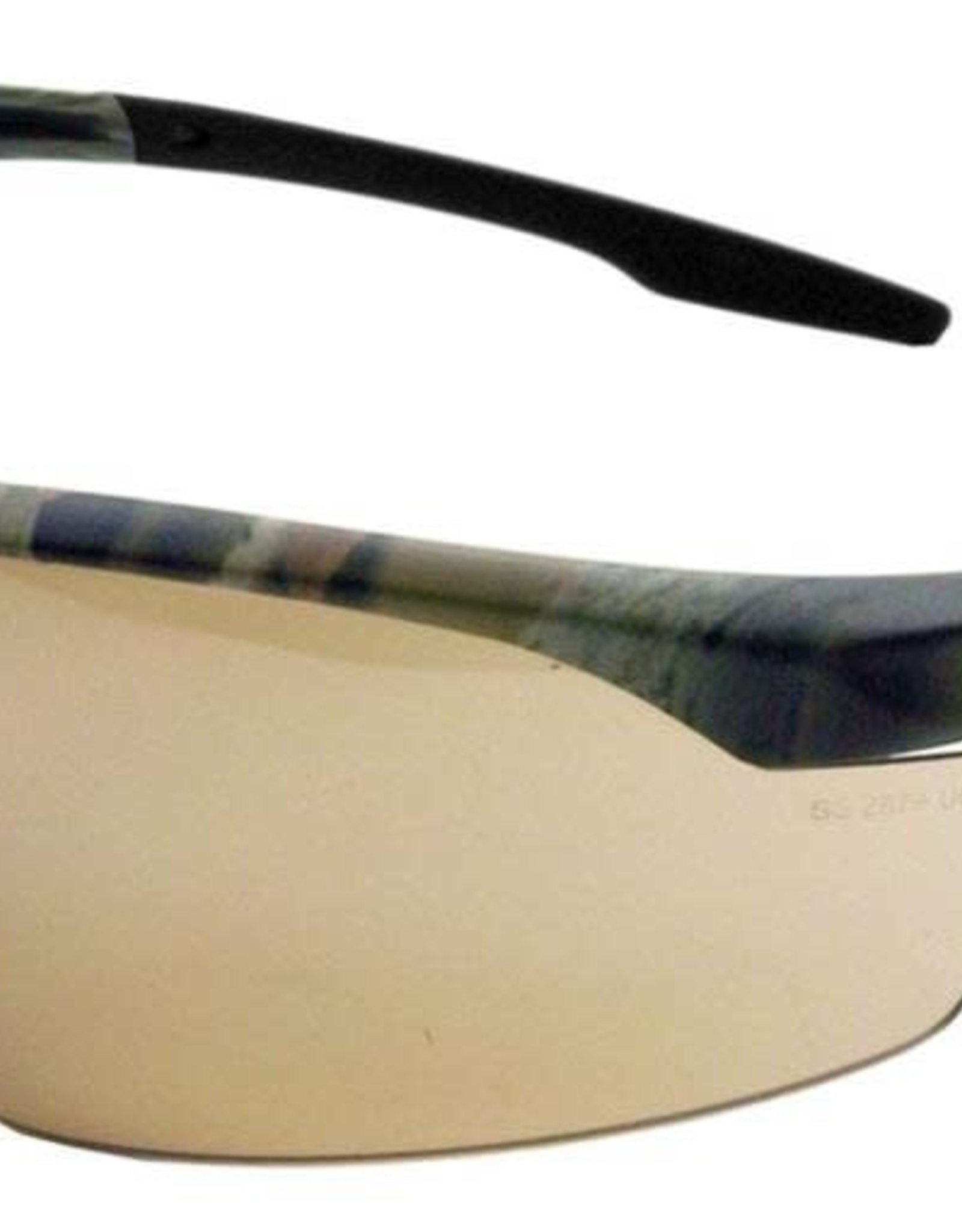 Gateway Conqueror Safety Glasses, Universal, Scratch Resistant Bronze Mirror Lens, Half-Frame, 28CM5M