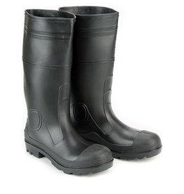 PVC Black Rubber Waterproof Steel Toe Boots