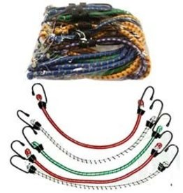 Bungee Cords w/ Hooks, 12 Pieces