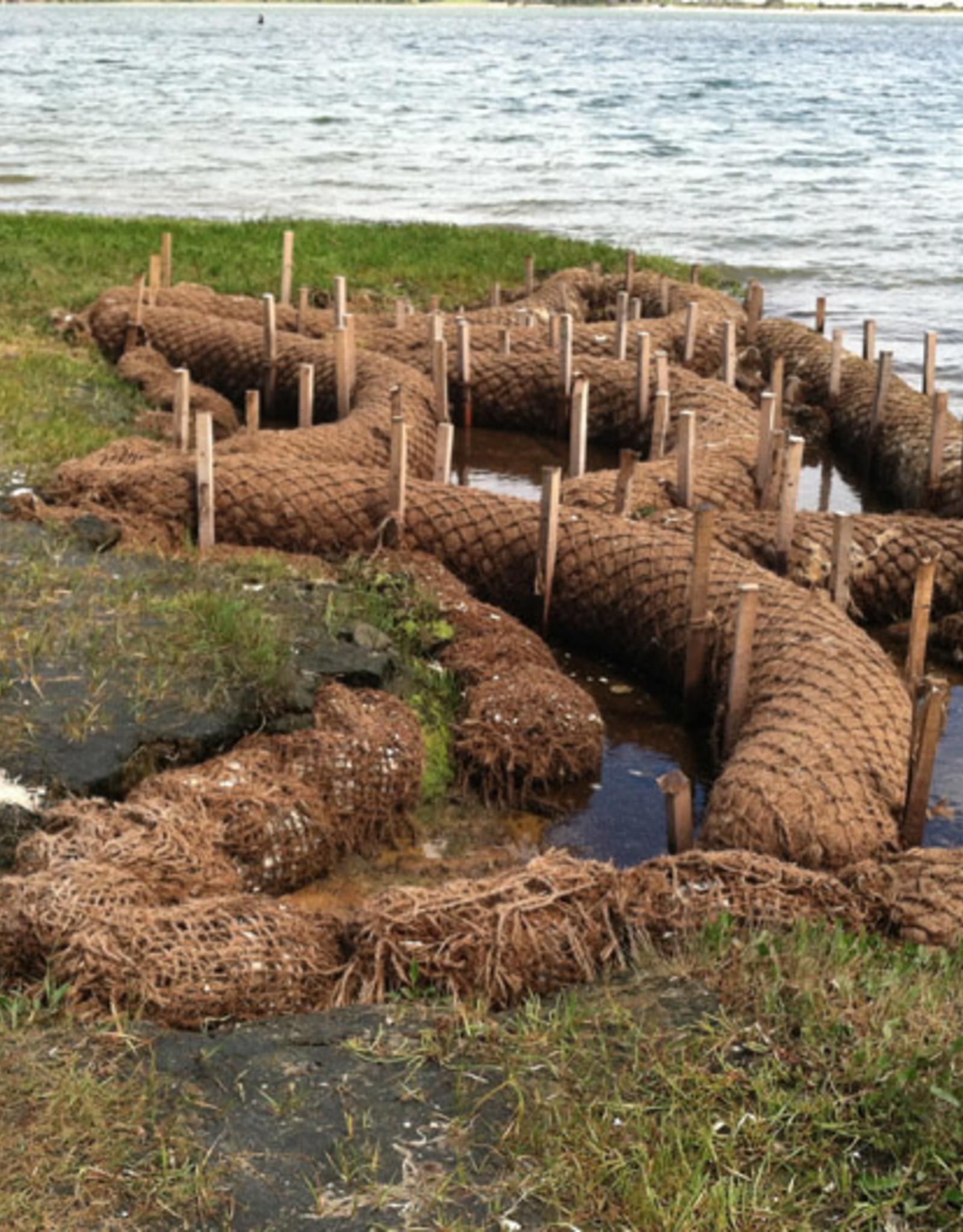 "Coconut Coir Log With Natural Net, SZ. 12"" x 10'"
