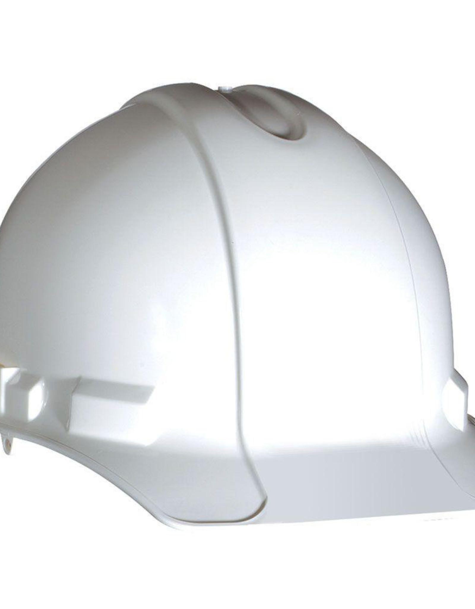 Gateway Standard Safety Helmet, Pin Lock Suspension, White Shell