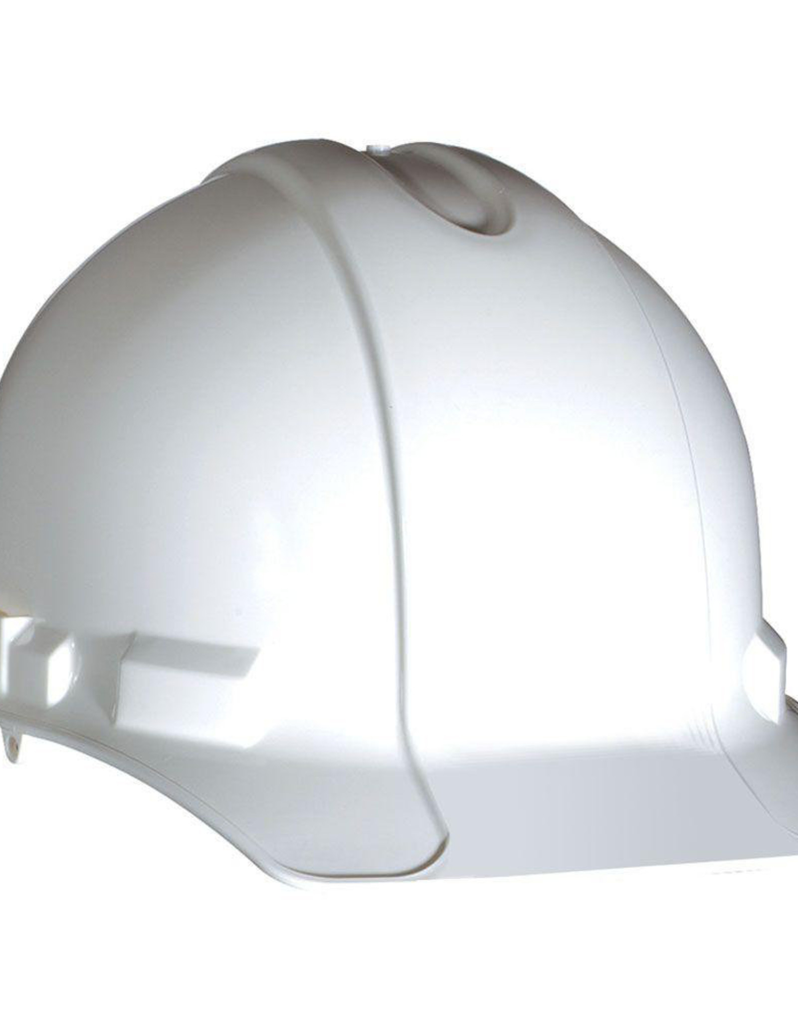 Standard Safety Helmet, Pin Lock Suspension, White Shell