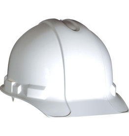 Gateway Standard Safety Helmet, Pin Lock Suspension, White Shell
