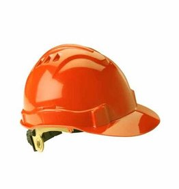 Gateway Serpent Safety Helmet, Ratchet Suspension, Orange Shell