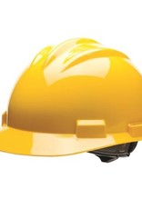 Standard Safety Helmet, Ratchet Suspension, Yellow Shell