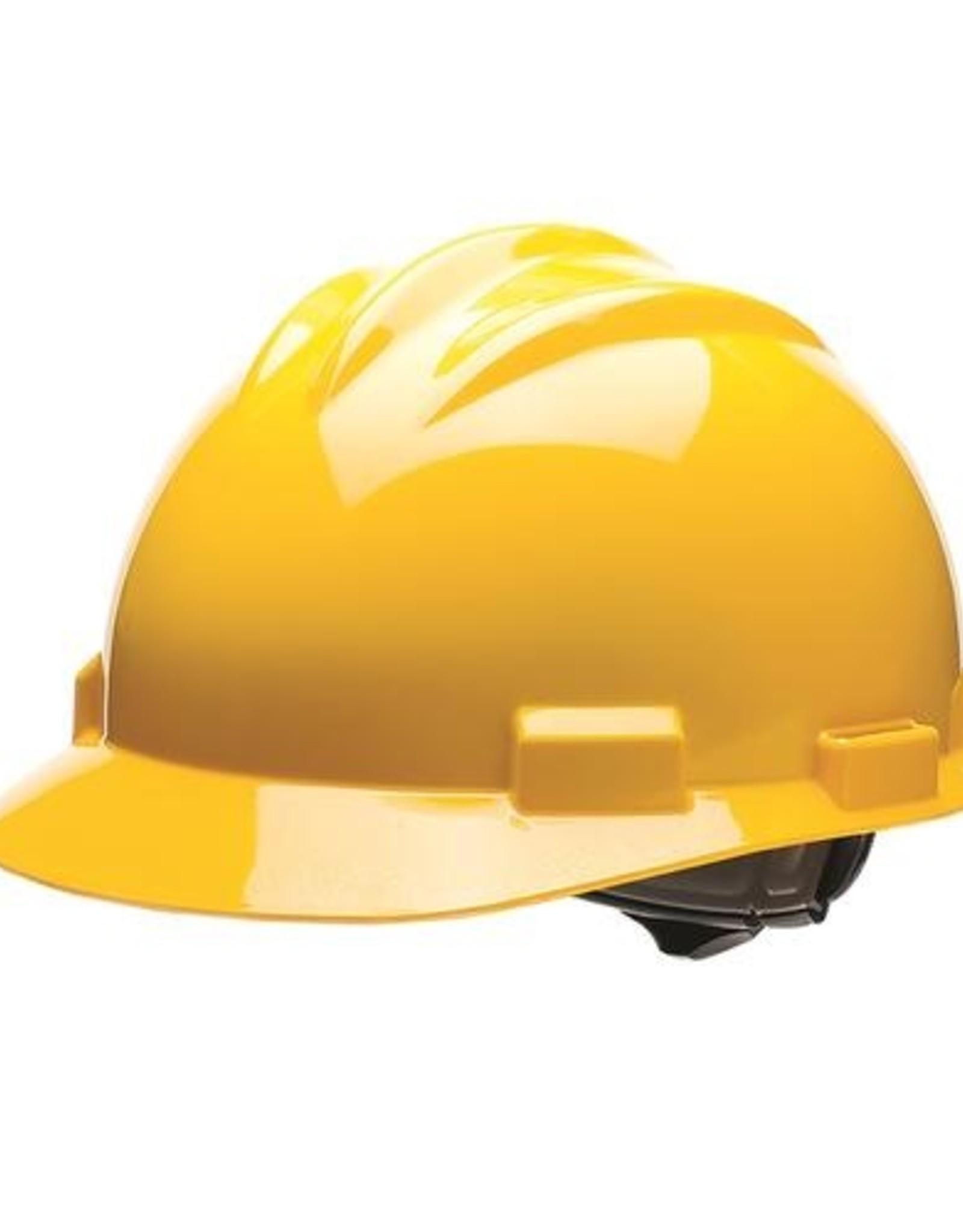 Standard Safety Helmet, Pin Lock Suspension, Yellow Shell