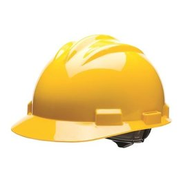 Gateway Standard Safety Helmet, Pin Lock Suspension, Yellow Shell