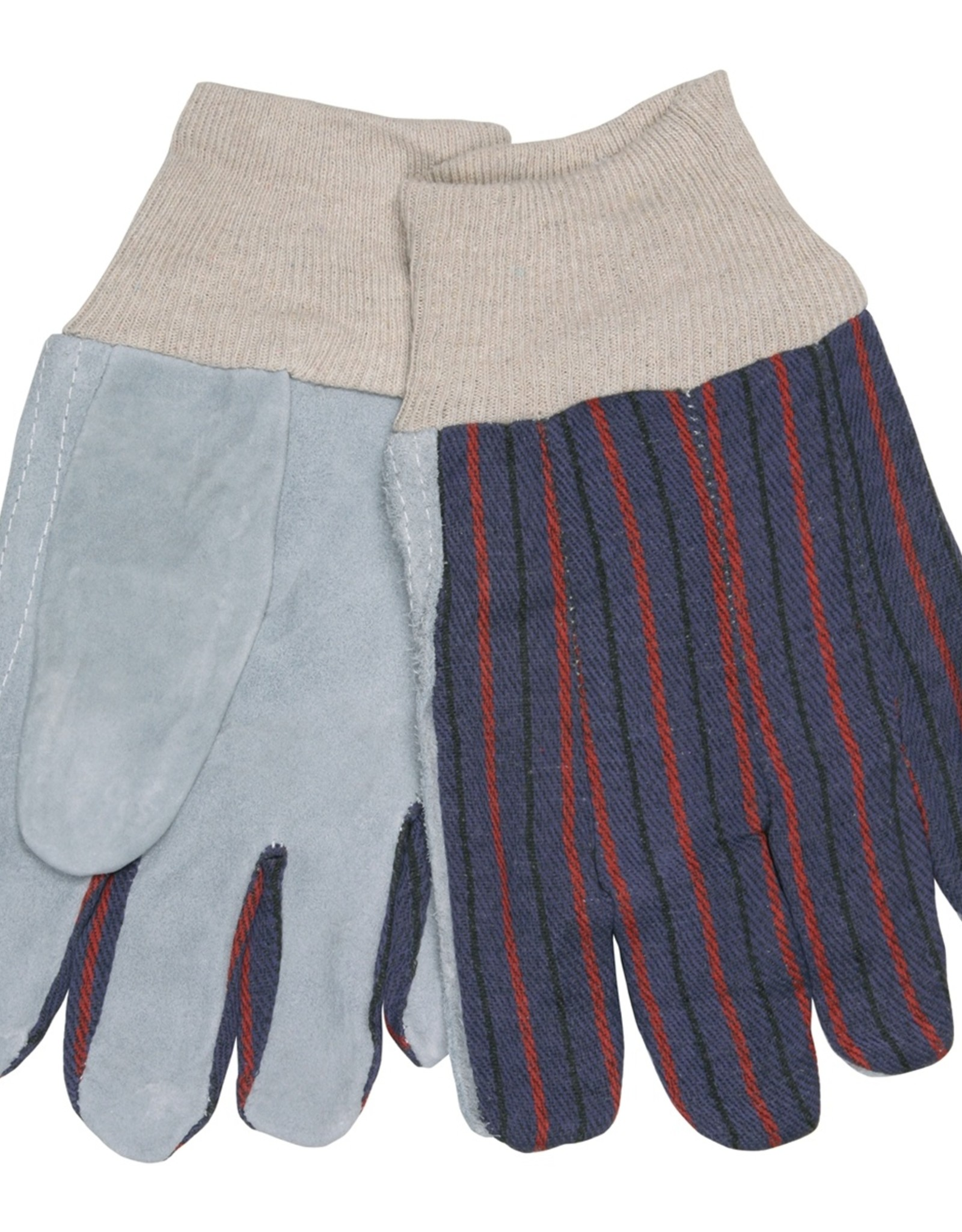 Seattle Economic Leather Palm Gloves, Knit Wrist