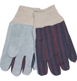 Economic Leather Palm Gloves, Knit Wrist