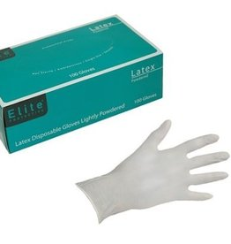Latex Disposable Gloves, SZ. Large, 100 Per Box
