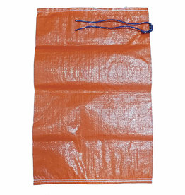 "Individual Sand Bag, SZ. 14"" x 26"", Orange Woven Polypropylene"