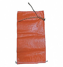 "Individual Sand Bag, SZ. 14"" X 26"" Orange Woven Polypropylene"
