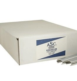 "ASC Hog C-Rings, SZ. 3/4"" Galvanized - Case of 11,000 Rings"