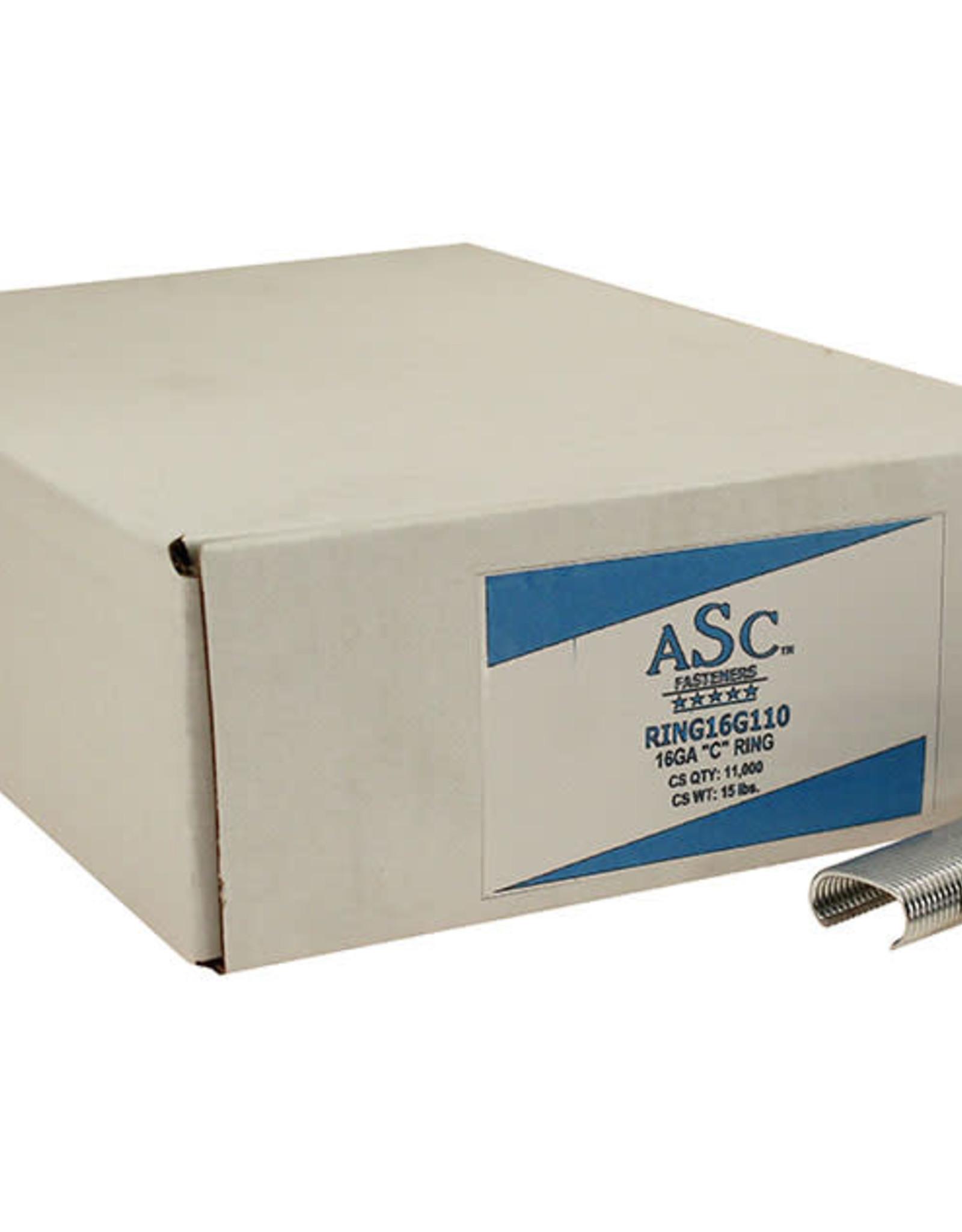 "ASC Hog C-Rings, SZ. 3/4"" Galvanized - Case of 11,000 Rings"