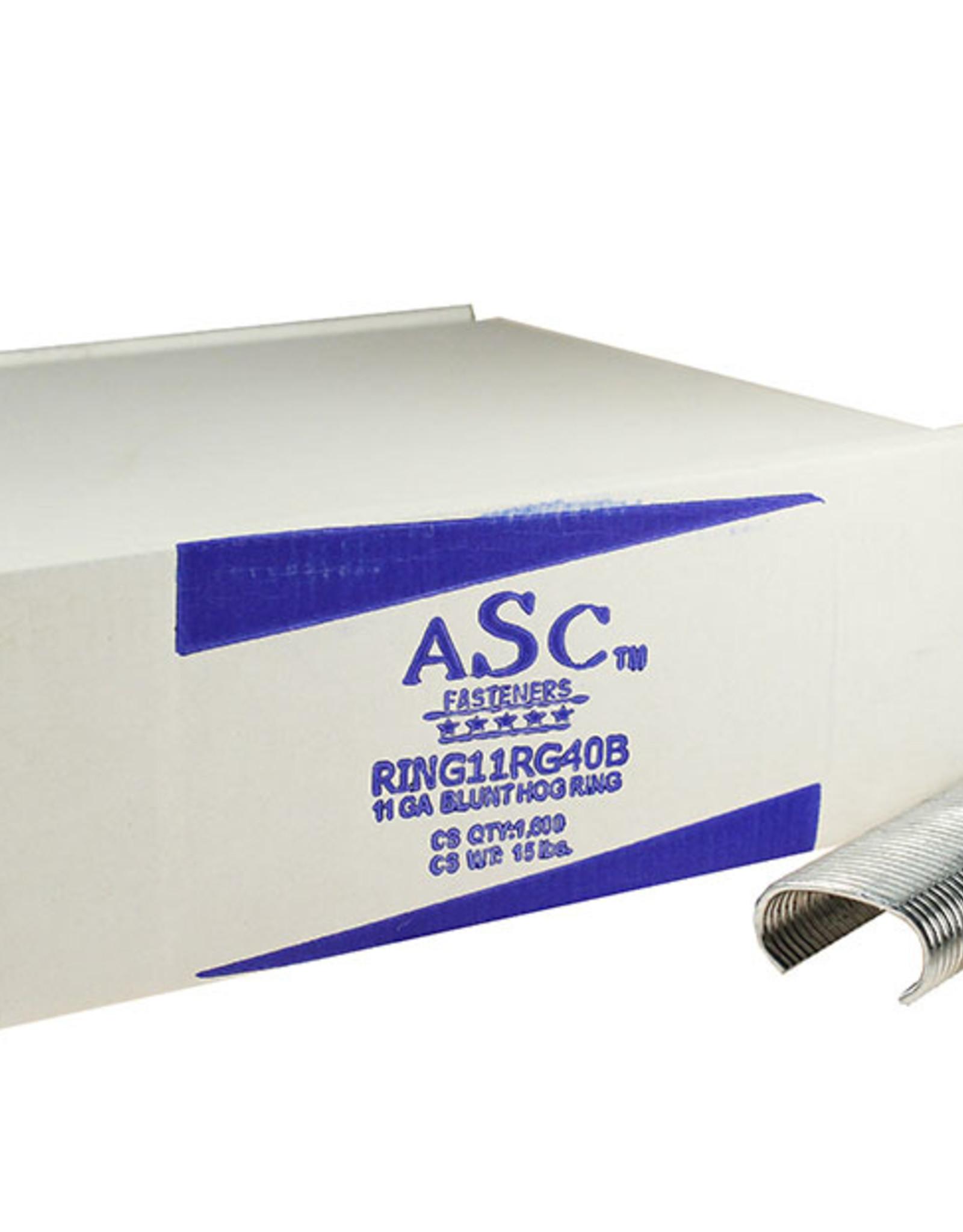 """ASC Hog C-Rings, SZ. 1-1/2"""" Galvanized - Case of 1,600 Rings Blunt; 11 gauge"""