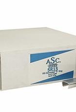 """ASC Hog D-Rings, SZ. 3/4"""" Galvanized, 15 Gauge-Case of 10,000 Rings, Sharp Point"""