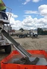 """PVC Concrete Washout, SZ. 6' x 8' x 12""""H"""